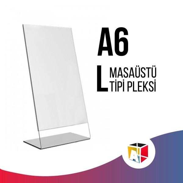 A6 Masaüstü L Tipi Pleksi