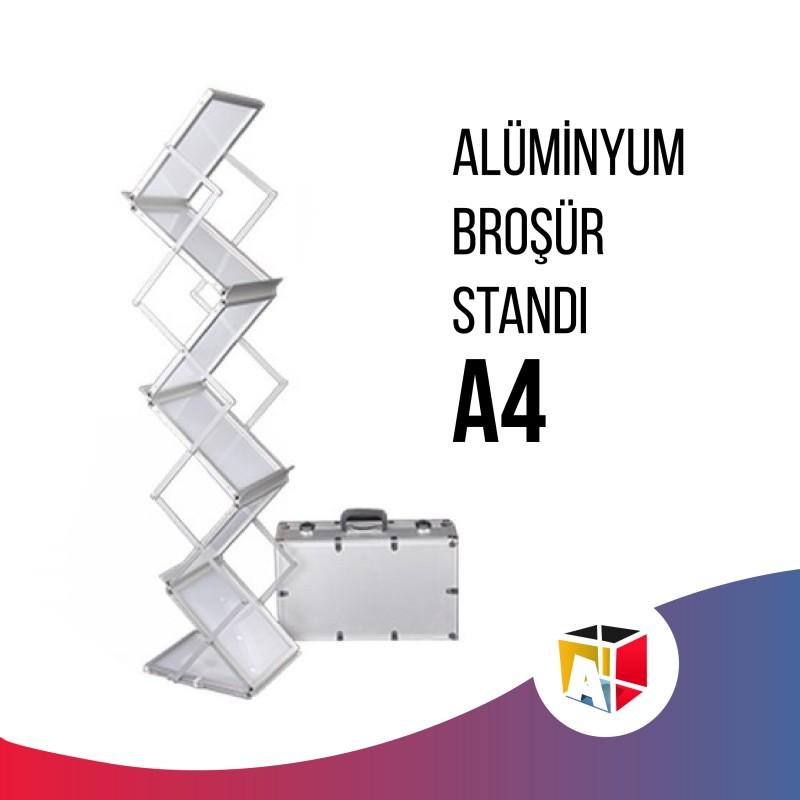 Alüminyum Broşür Standı A4