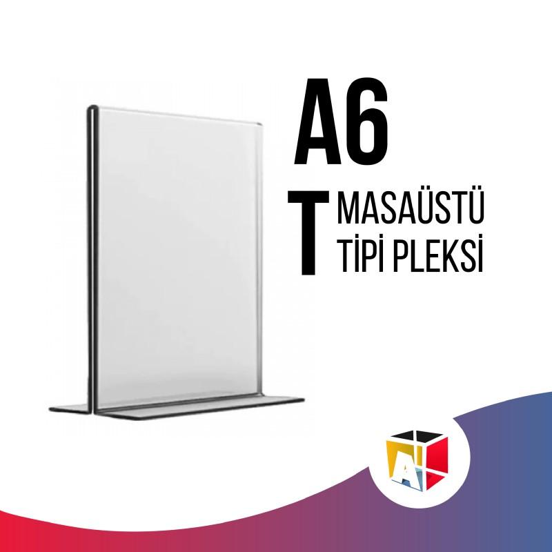 A6 Masaüstü T Tipi Pleksi